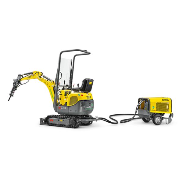 escavatore piemme nolo wacker neuson 803 dual power